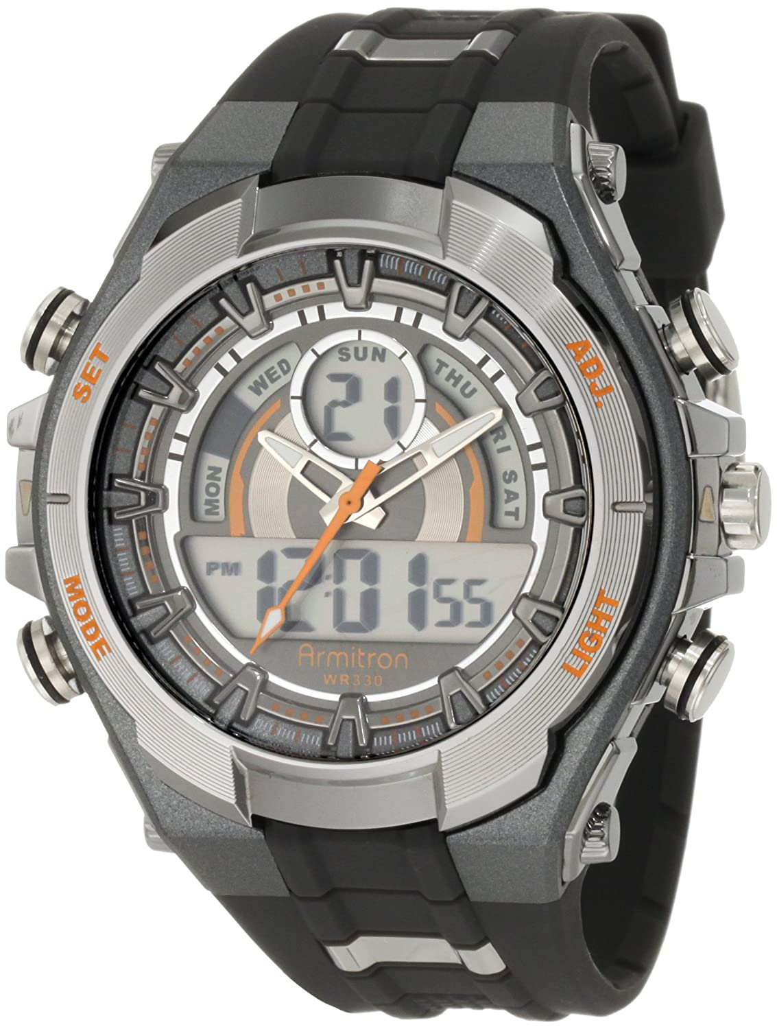 Amazon Armitron Sport Mens 204589orgy Watch With Black Band