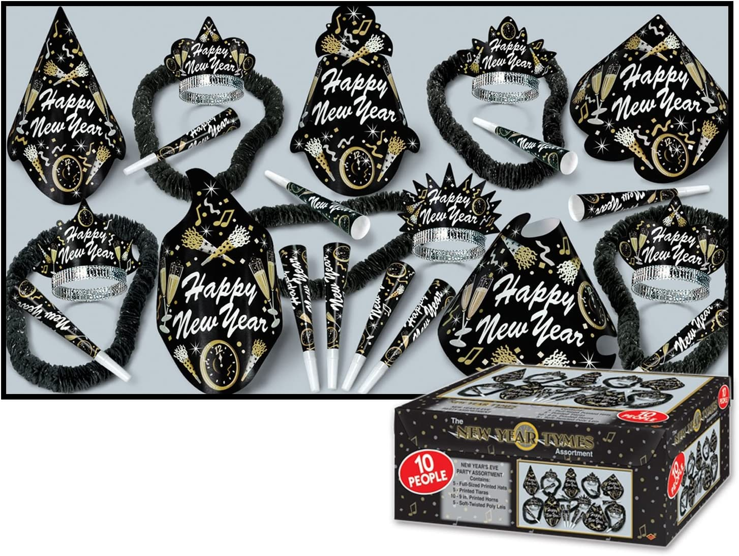 1 count New Year Tymes Asst for 50 Party Accessory