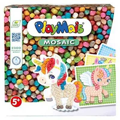 PlayMais 80.160562 Dream Unicorn Mosaic: Toys & Games
