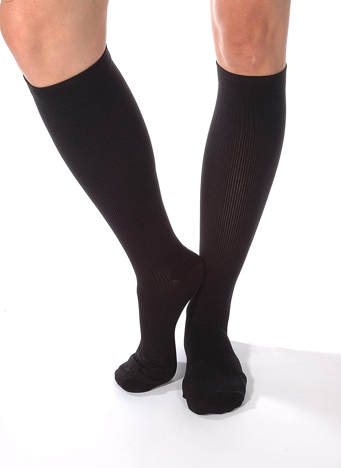 72d0f7dbc2 About the product Mens Dress Compression Socks - Made in the USA - sold per  pair. Firm feeling ribbed material ensures they look and feel like