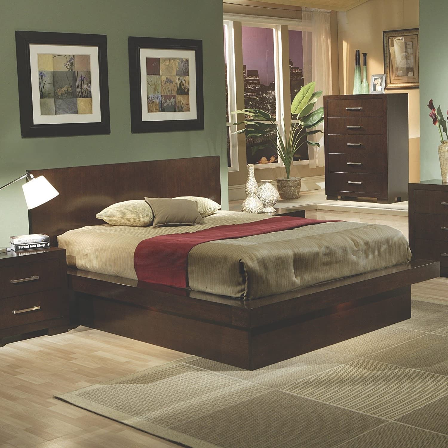 Amazon.com: Coaster Home Furnishings 200719Q Contemporary Queen Bed,  Cappuccino: Kitchen U0026 Dining