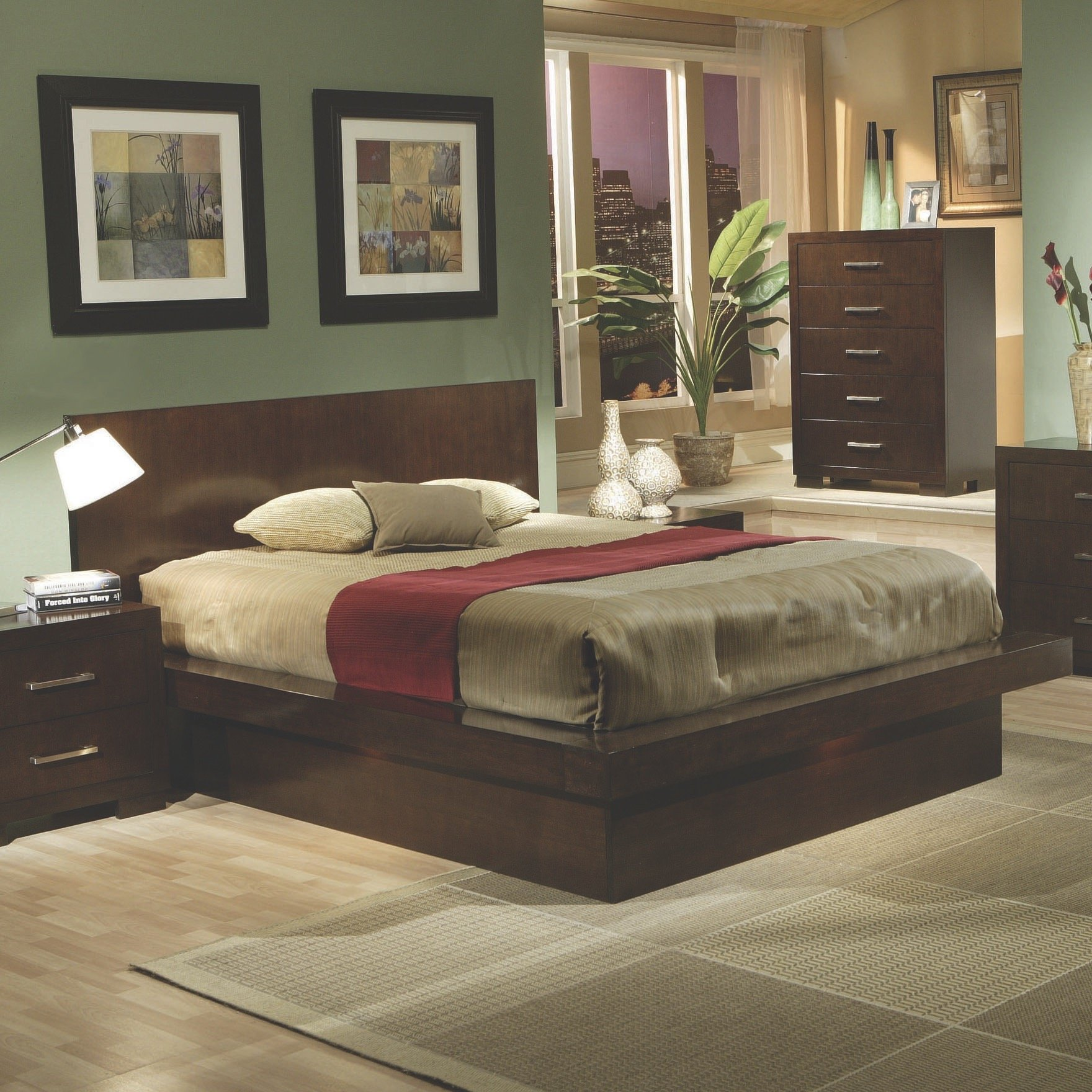 Coaster Home Furnishings 200719Q Contemporary Queen Bed, Cappuccino