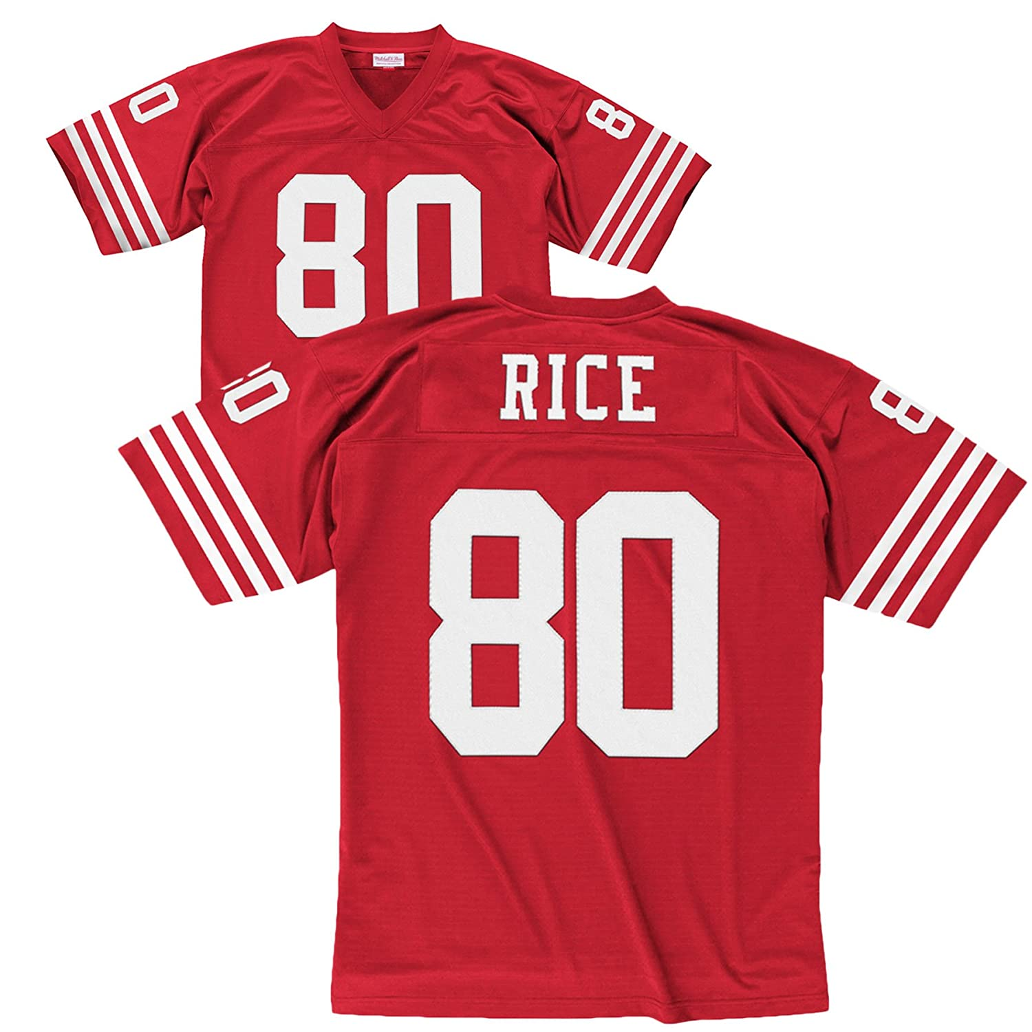 newest 4ec72 2cdc8 Mitchell & Ness San Francisco 49ers 1990 Jerry Rice #80 Replica Throwback  Jersey