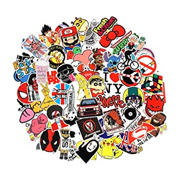 Lic store 100 pcs laptop stickers breezypals car stickers luggage decal graffiti guitar