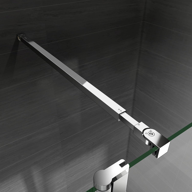 paroi de douche 120x200 avec retour pivotante 40cm et la barre de fixation extensible paroi de douche a l italienne