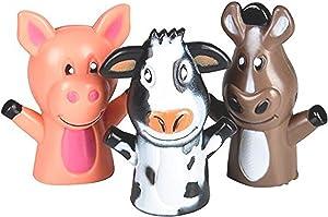 MD Wholesalers Farm Animal Vinyl Finger Puppets