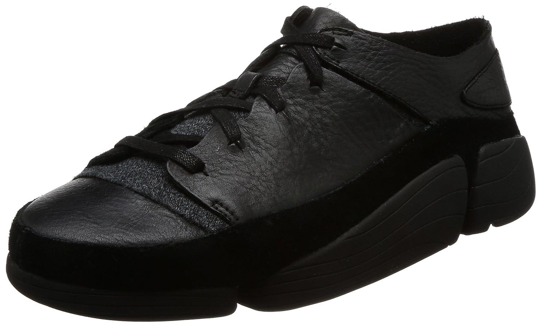Clarks Herren Schwarz Trigenic Evo Sneakers  42.5 EU|Schwarz