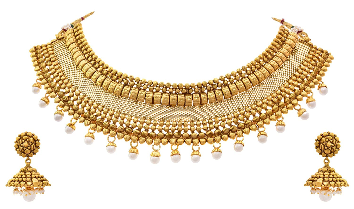 Buy Jfl - Jewellery For Less Traditional One Gram Gold Plated ...