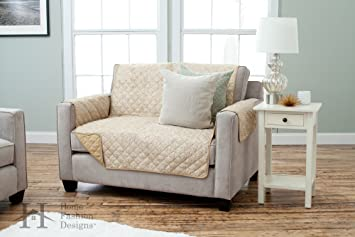 Deluxe Reversible Quilted Furniture Protector. Beautiful Print On One Side  / Solid Color On The