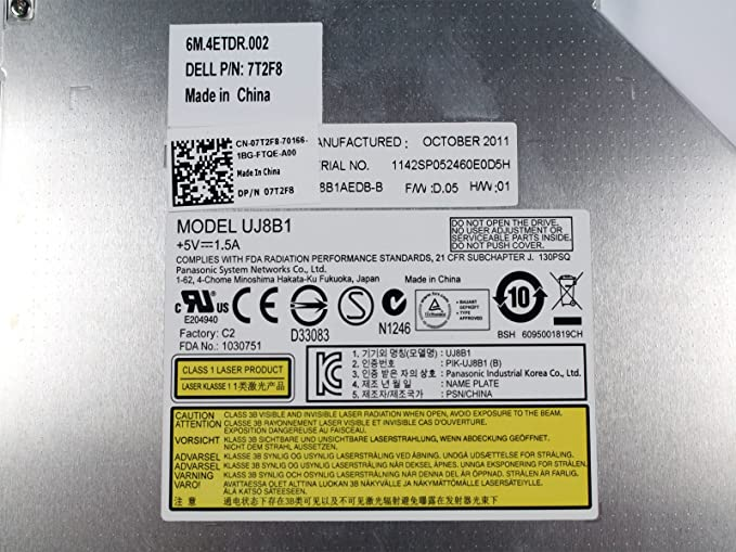 Amazon.com: dell dvd rw drive uj8b1 nxmnw inspiron n5110: computers