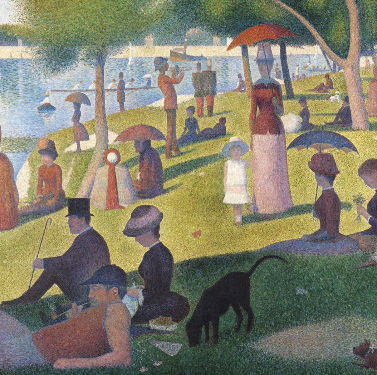 JP London SQM2249PS uStrip Peel and Stick Seurat Removable Wall Decal Sticker Mural A Sunday On La Grande Jatte at 6 High by 6 Wide