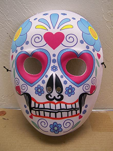 dia de los muertos day of the dead sugar skull halloween mask full face 2