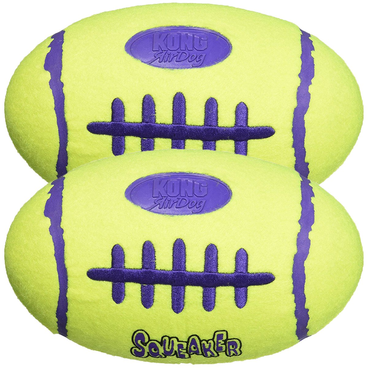KONG Air Dog Squeaker Dog Toy, Large 2-Pack by KONG