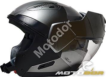 Amazonfr Motodor Casque Moto Modulable Spin Avec Visière Solaire