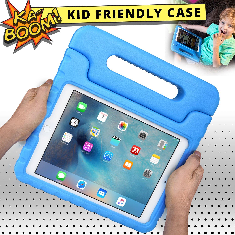 Coque Apple iPad Air 2, Poign/ée /épaisse 2-en-1 : Transport /& Support Protection d/Écran Rose Coque pour Enfants Cooper Dynamo Robuste /à Toute /épreuve Mousse EVA r/ésiste aux Chutes Poign/ée
