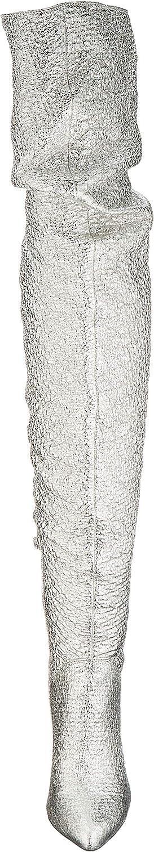 Buffalo Damen Freija Overknees Grau Silver Tweed 001