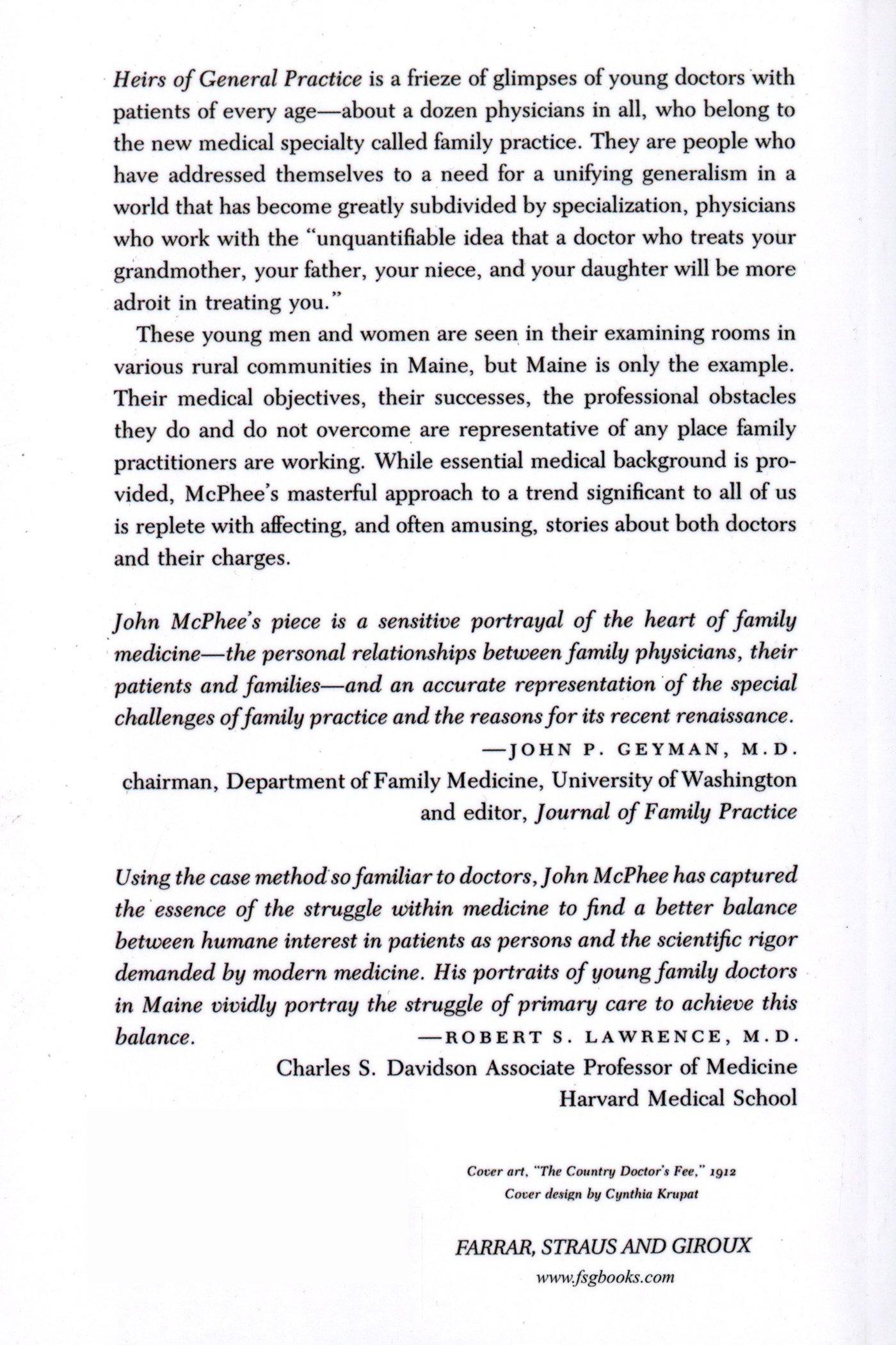 heirs of general practice john mcphee com heirs of general practice john mcphee 9780374519742 com books