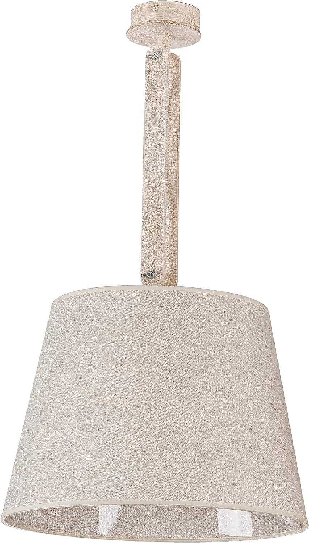 Bauhaus XL plafón Magda Lena Geradlinige Formas de metal, madera, PVC Pantalla en beige lámpara de techo: Amazon.es: Iluminación