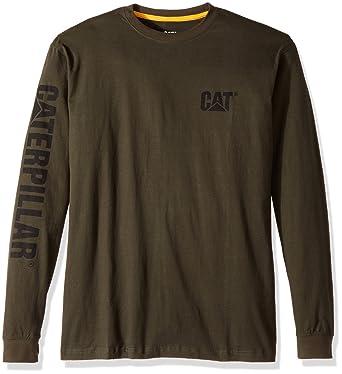 Caterpillar Mens Big and Tall Trademark Banner Long Sleeve Tee Long Sleeve T -Shirt -