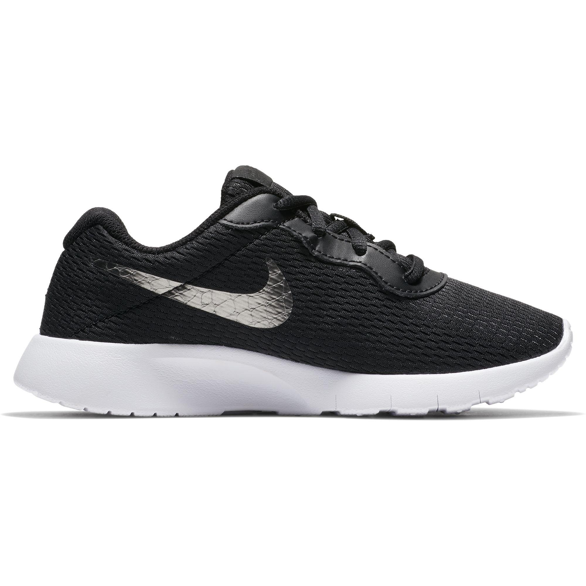 Nike Boy's Tanjun Shoe Black/Metallic Pewter/White Size 1 M US