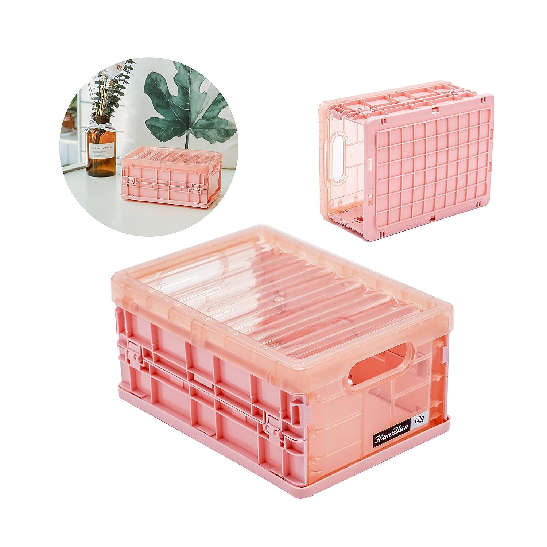 hr-international折りたたみストレージコンテナボックスプラスチック食品フルーツBooks Clothesコンテナオーガナイザーキッチンベッドルームバスルーム用 Pink S 5R-91JL-DGHL B07C2LZCBY 13200  Pink S