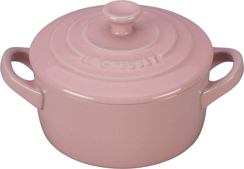 Le Creuset PG1160-0814 Stoneware Mini Round Cocotte, 8 oz, Hibiscus