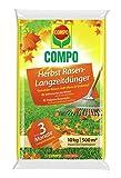Compo Herbst Rasen-Langzeitdünger 10 kg für 500 m² Rasendünger, gelb, 10 x 8 x 6 cm