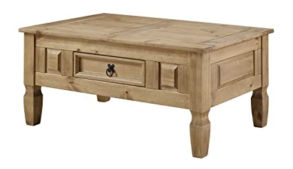 Swell Corona Mexican Pine Coffee Table Rustic Design With Drawer Machost Co Dining Chair Design Ideas Machostcouk