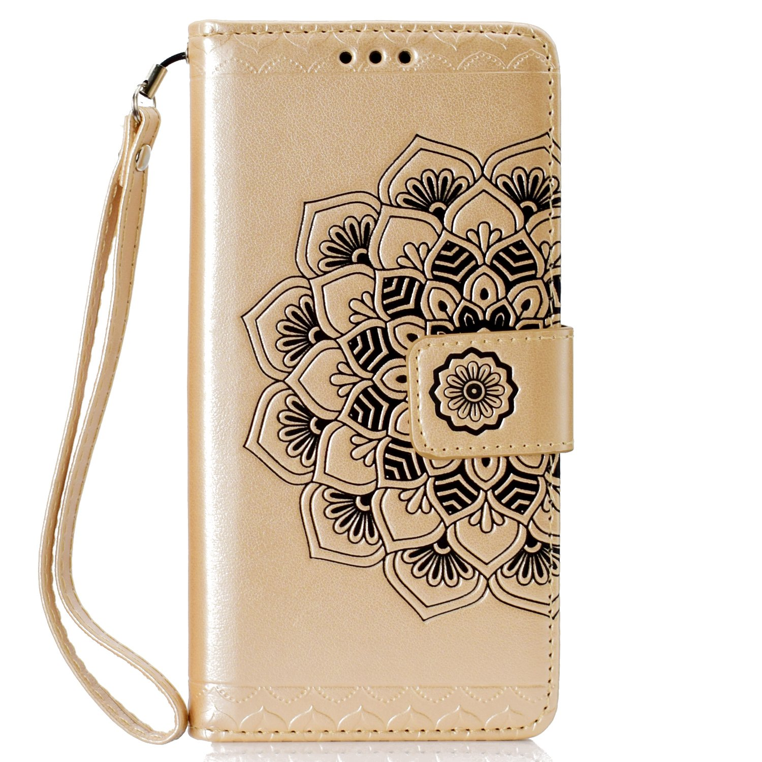 Herbests Coque pour Huawei Honor 7C, Coque Huawei Y7 Prime 2018 Cuir Portefeuille, Huawei Y7 2018 Coque de Protection en Cuir Folio Housse Fermeture Magnétique Housse Etui de Protection pour Homme Femme Fille Ultra Slim Mince Anti-choc Anti-rayures Pure Le