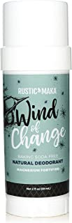 product image for Rustic MAKA Natural Deodorant, Wind of Change, Free of Aluminum, Baking Soda & Parabens, Rosewood + Mint, Magnesium, Vegan & Cruelty-Free Certified, 2 fl oz