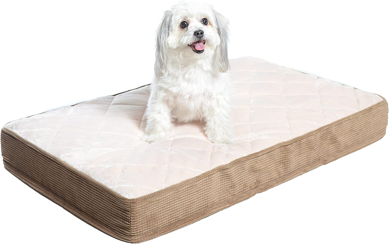 Milliard Quilted Padded Orthopedic Dog Bed, Egg Crate Foam with Plush Pillow Top Washable Cover (47 inches x 29 inhes x 4 inches) : Pet Supplies