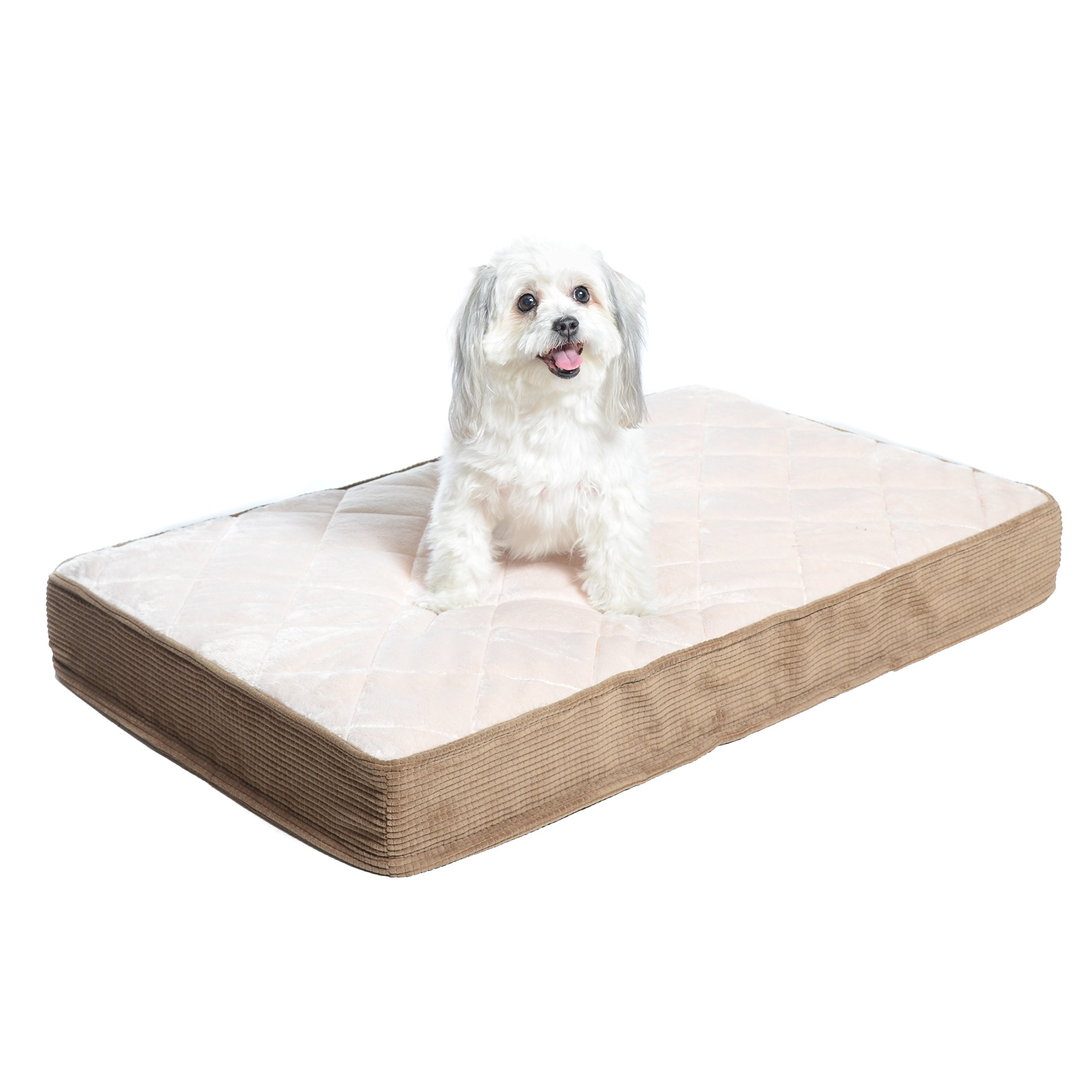 Milliard Quilted Padded Orthopedic Dog Bed, Egg Crate Foam with Plush Pillow Top Washable Cover (35 inches x 22 inches x 4 inches) by Milliard
