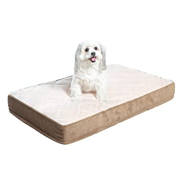 Milliard Quilted Padded Orthopedic Dog Bed, Egg Crate Foam With Plush Pillow Top Washable Cover (Fits Standard Crate) by Milliard