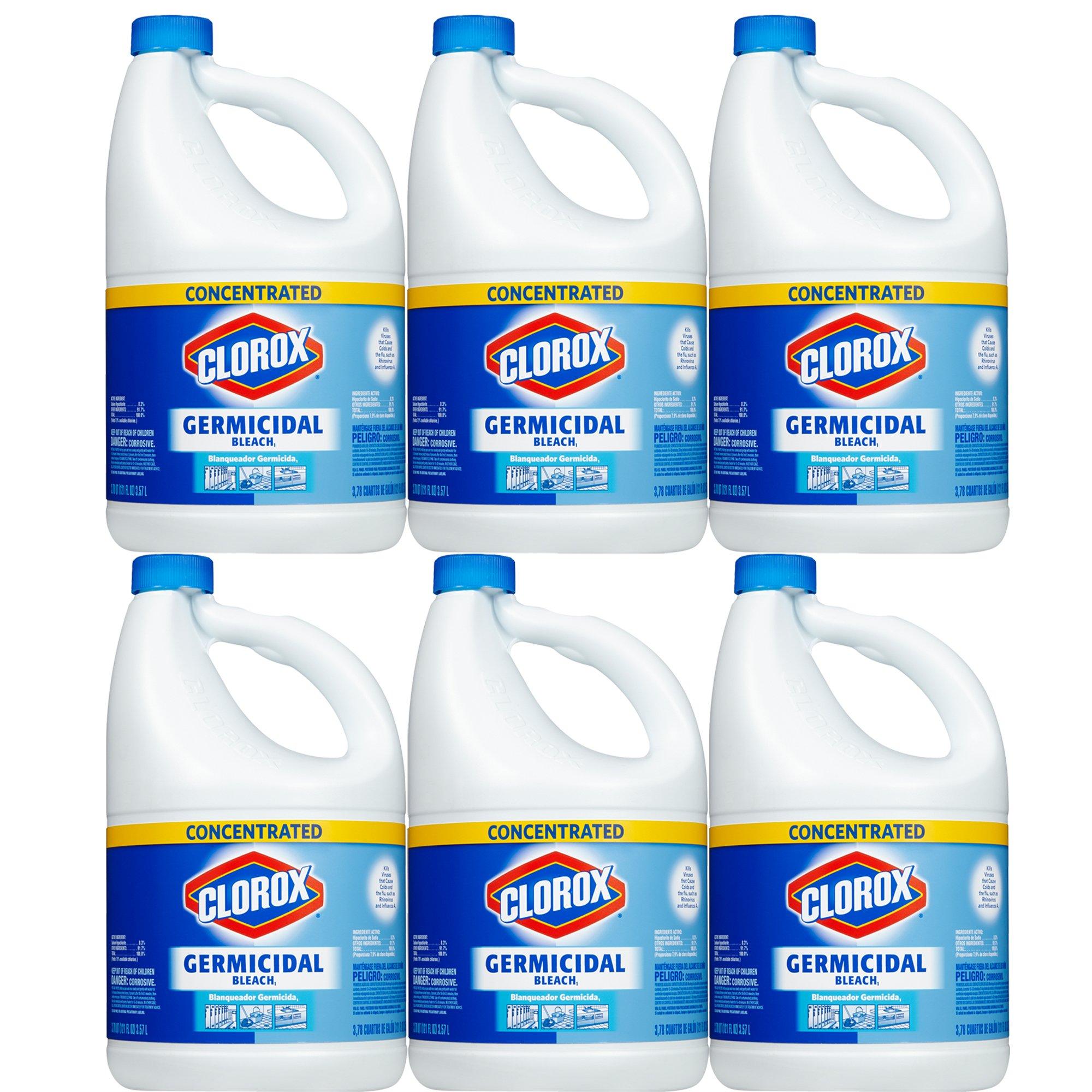 Clorox Germicidal Concentrated Liquid, Germicidal Bleach 121 oz, 6-Pack