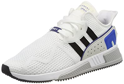 super popular 956f7 834fb adidas Originals Mens EQT Cushion Adv Ftwwht, Cblack, Croyal Sneakers-8 UK
