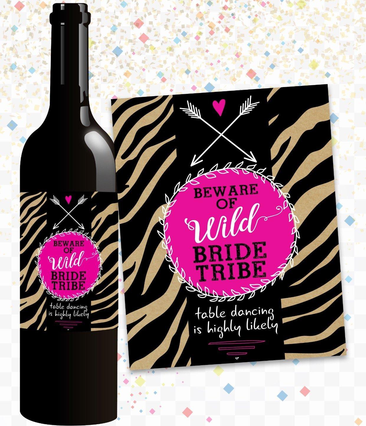 Amazon.com: Standard Wine Labels Bachelorette Party Wine Bottle ...