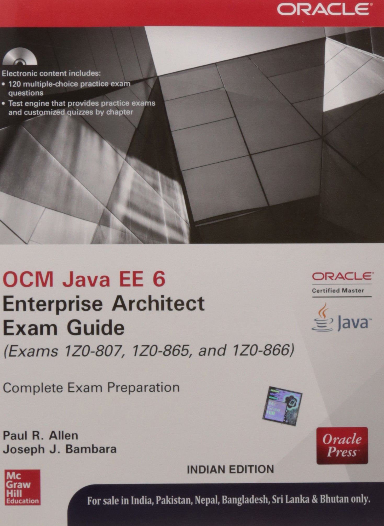 Ocm Java Ee 6 Enterprise Architect Exam Guide Paperback Na Amazon