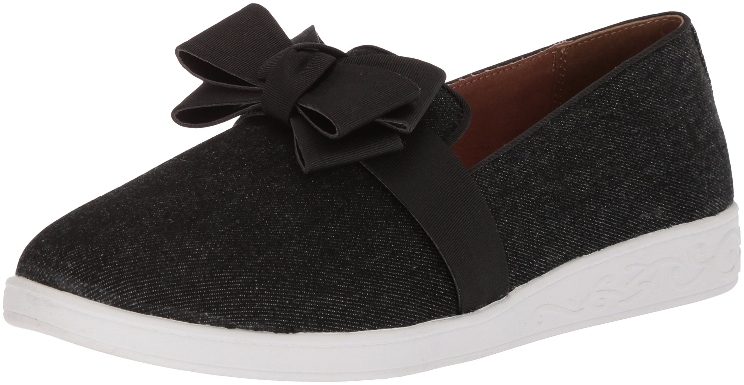 Soft Style by Hush Puppies Women's Padme Loafer, Black Denim, 07.0 M US