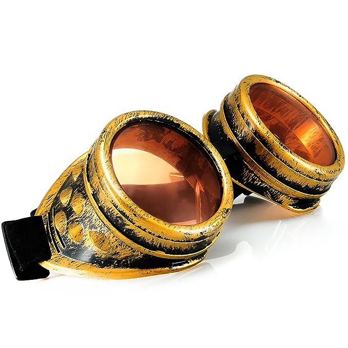 Welding Cyber goggles de soleil des Lunettes de Soudage Steampunk Antique Copper ONE EYED EYE