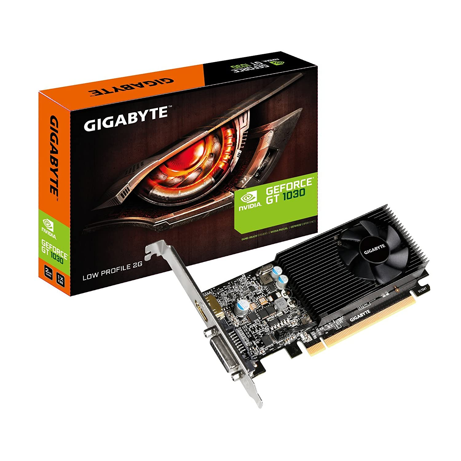 T. Video Gigabyte Nvidia GT1030 2GB GDDR5 LP GV-N1030D5-2GL