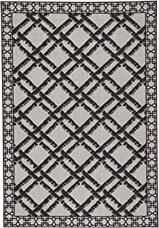 """product image for Elsinore-Bamboo Trellis Cinders 7' 10"""" x 11' Rectangle Machine Woven Rug"""