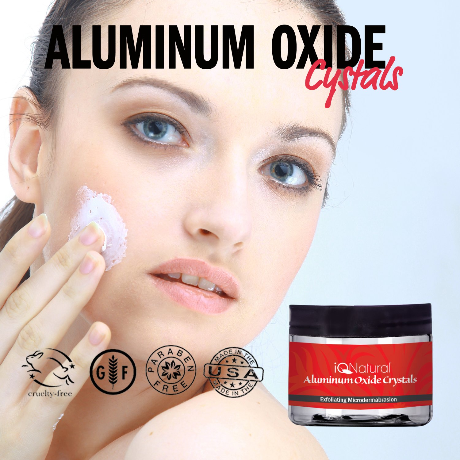 Amazon.com : Premium Microdermabrasion Crystals Face Scrub | DIY Spa Micro Dermabrasion Skin Exfoliation with 120 Grit Pure White Aluminum Oxide | Face ...