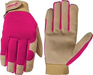 Wells Lamont Work Gloves, Women's, Suede Leather Palm Ultra Comfort, Medium, Color Received May Vary (1042M)