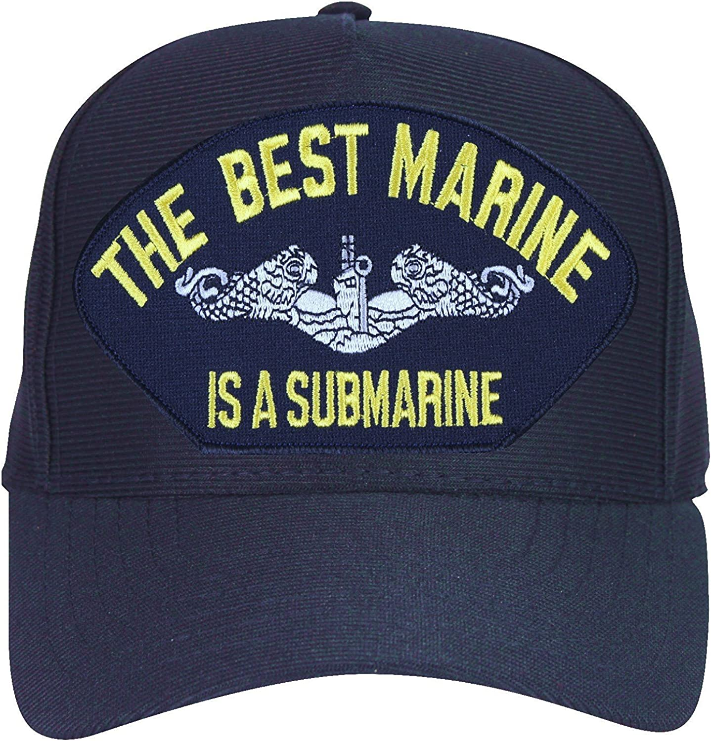 Navy Blue Made in USA The Best Marine is a Submarine Baseball Cap