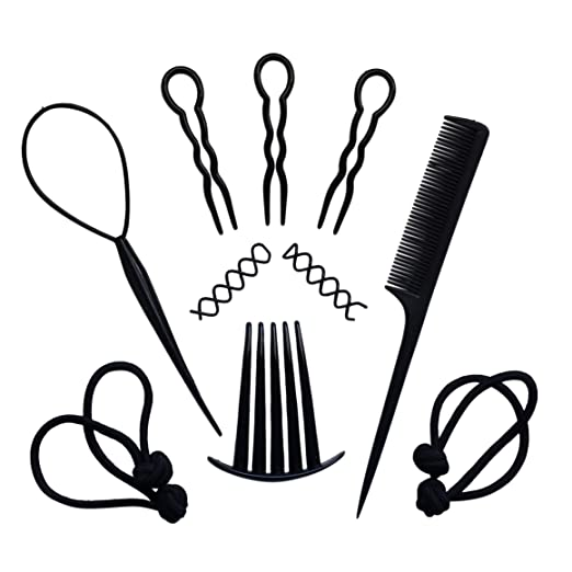 CurlyGirls Combo Kit: All You Need Styling Essentials - Natural Hair Accessories for Curls, Coils, Kinks & Locs by Loccessories