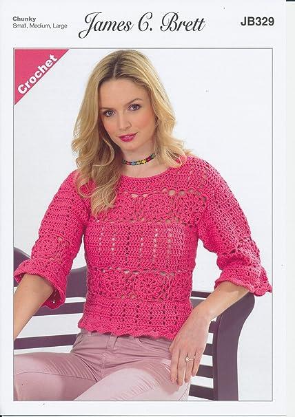James Brett patrón para tejer Crochet para mujer señoras Jersey Lana ...