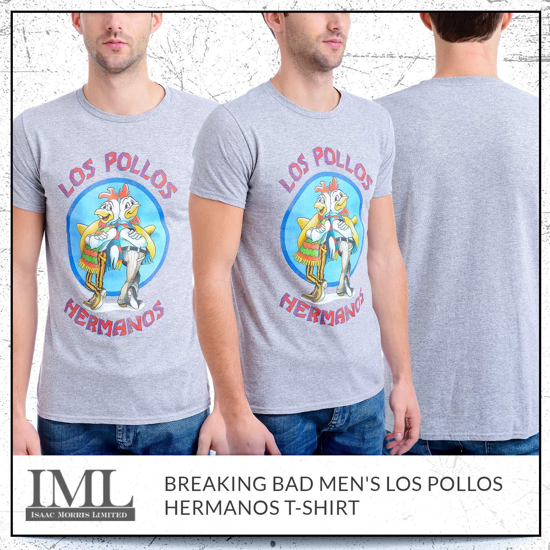 c86b04a4 Breaking Bad Men's Los Pollos Hermanos T-Shirt, Heather Gray, Medium -  BR6M0013OL < T-Shirts < Clothing, Shoes & Jewelry - tibs