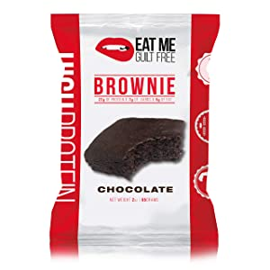 Eat Me Guilt Free High Protein Brownie, Low Carb Healthy Snack or Dessert, 22g Protein, Original Chocolate (12 Count)
