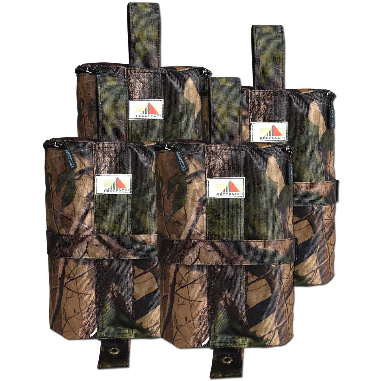 ABCCANOPY Gazebo Weight Bags 4pcs Camo Sandbag Saddlebag Design for Pop Up Canopy Tent (hold up to 25kg) 4335034827