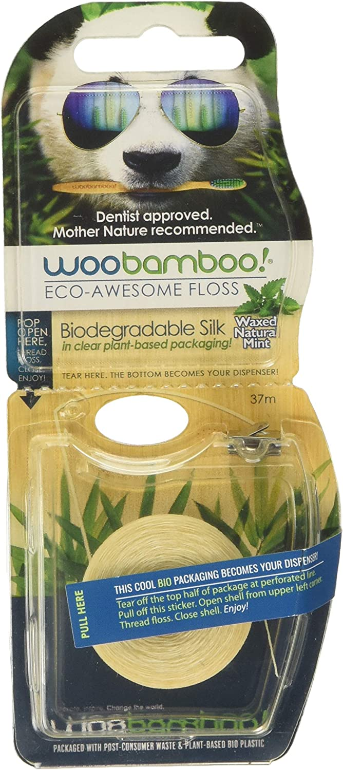 WooBamboo Hilo Dental Menta Biodegradable 20 gr: Amazon.es: Salud ...